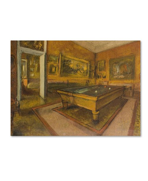 "Trademark Global Degas 'Billiard Room At Menilhubert' Canvas Art - 24"" x 18"" x 2"""
