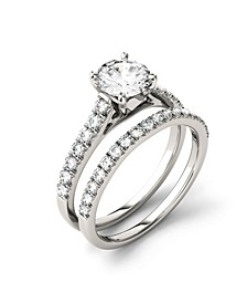 Moissanite Bridal Set (1-5/8 ct. t.w. Diamond Equivalent) in 14k white gold