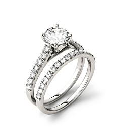Moissanite Bridal Set (1-5/8 ct. t.w. Diamond Equivalent) in 14k white gold