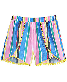 Epic Threads Big Girls Striped Challis Shorts, Created for Macy's