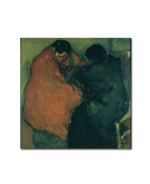 """Trademark Global Isidre Nonell 'Two Gypsy Women' Canvas Art - 24"""" x 24"""" x 2"""""""