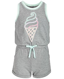 Epic Threads Big Girls Ice Cream Cone Romper, Created for Macy's