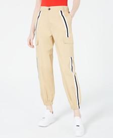 Waisted Varsity Stripe Cargo Pants