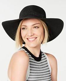 I.N.C. Lace-Insert Floppy Hat, Created for Macy's