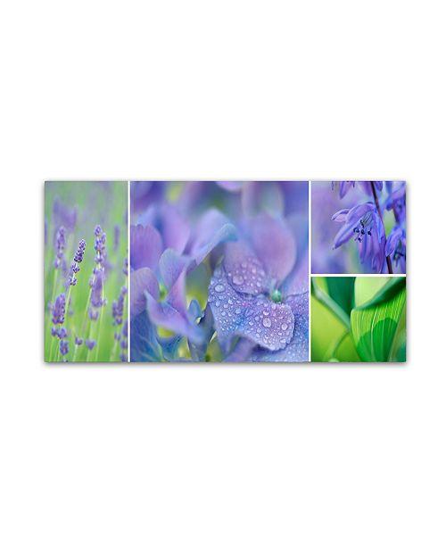 "Trademark Global Cora Niele 'The Blue Garden' Canvas Art - 10"" x 19"" x 2"""