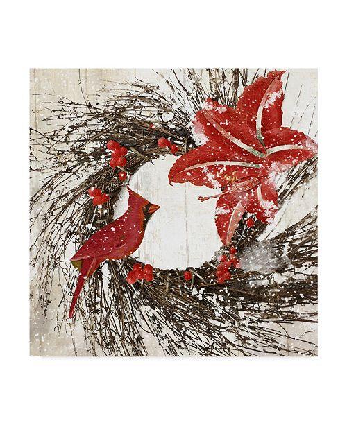 "Trademark Global Color Bakery 'Cardinal Christmas I' Canvas Art - 18"" x 18"" x 2"""