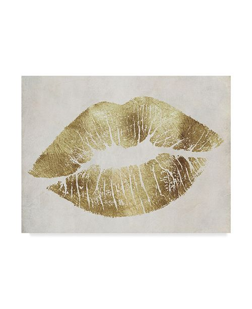 "Trademark Global Color Bakery 'Hollywood Kiss Gold' Canvas Art - 19"" x 14"" x 2"""