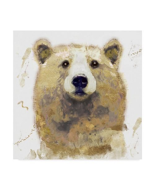 "Trademark Global Color Bakery 'Golden Forest Bear' Canvas Art - 35"" x 35"" x 2"""