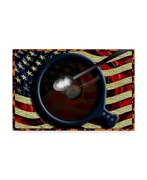 "Trademark Global Dana Brett Munach 'Americano' Canvas Art - 32"" x 22"" x 2"""