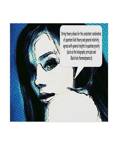 "Trademark Global Dana Brett Munach 'The Physicist' Canvas Art - 24"" x 24"" x 2"""