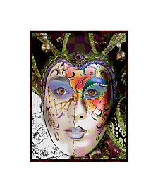 "Dana Brett Munach 'Masquerade' Canvas Art - 32"" x 24"" x 2"""
