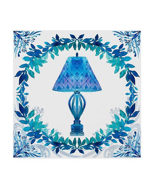 "Trademark Global Irina Trzaskos Studio 'Winter Tales Lamp' Canvas Art - 18"" x 18"" x 2"""