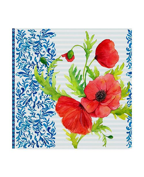 "Trademark Global Irina Trzaskos Studio 'Summertime Poppies I' Canvas Art - 24"" x 24"" x 2"""
