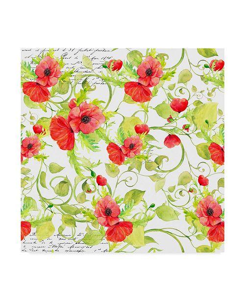 "Trademark Global Irina Trzaskos Studio 'Poppy Pattern I' Canvas Art - 14"" x 14"" x 2"""