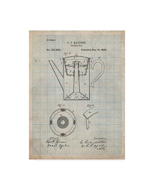 "Trademark Global Cole Borders 'Tea Pot 2' Canvas Art - 47"" x 35"" x 2"""