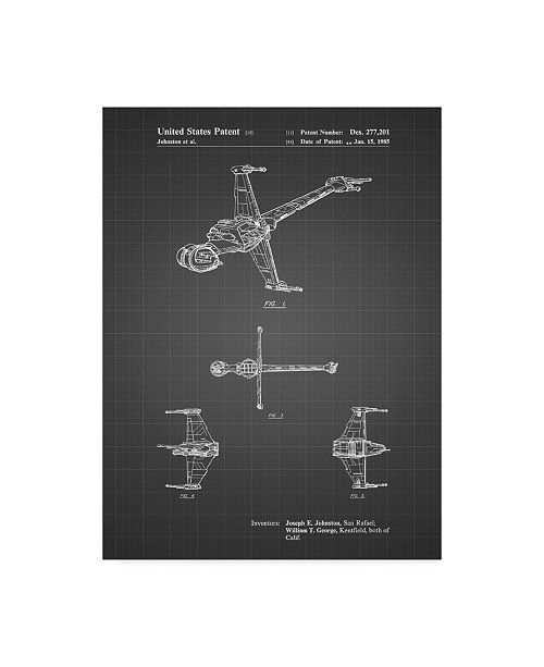 "Trademark Global Cole Borders 'Space Ship 5' Canvas Art - 19"" x 14"" x 2"""
