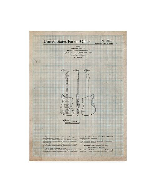 "Trademark Innovations Cole Borders 'Guitar 1' Canvas Art - 32"" x 24"" x 2"""