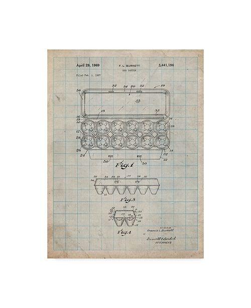 "Trademark Innovations Cole Borders 'Egg Carton' Canvas Art - 47"" x 35"" x 2"""