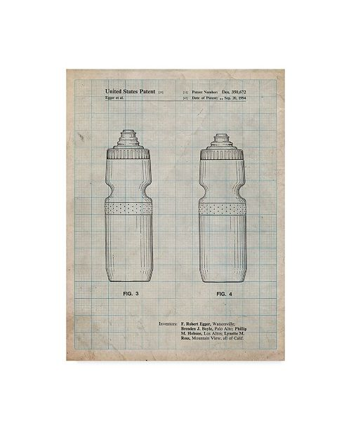 """Trademark Innovations Cole Borders 'Cycling Water Bottle' Canvas Art - 19"""" x 14"""" x 2"""""""