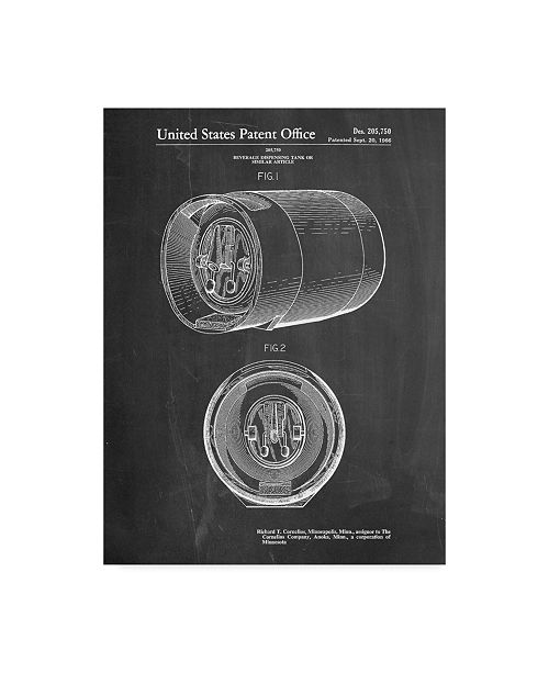 "Trademark Innovations Cole Borders 'Beer Keg' Canvas Art - 19"" x 14"" x 2"""