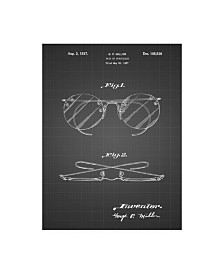 "Cole Borders 'Eyeglasses Spectacles Patent Art' Canvas Art - 47"" x 35"" x 2"""