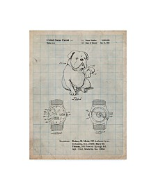 "Cole Borders 'Dog Watch Clock' Canvas Art - 32"" x 24"" x 2"""