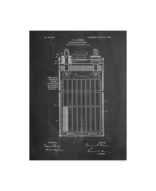 "Trademark Innovations Cole Borders 'Edison Alkaline Battery Art' Canvas Art - 47"" x 35"" x 2"""