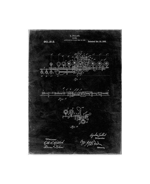 "Trademark Innovations Cole Borders 'Flute' Canvas Art - 47"" x 35"" x 2"""
