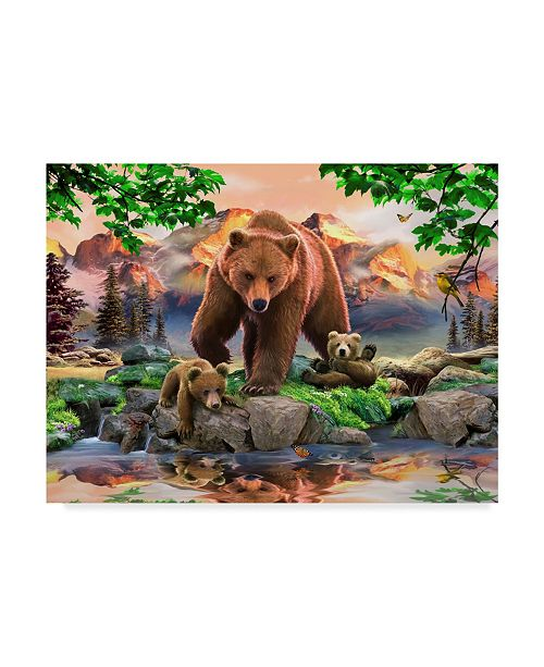 "Trademark Global Howard Robinson 'Bear Family' Canvas Art - 24"" x 18"" x 2"""