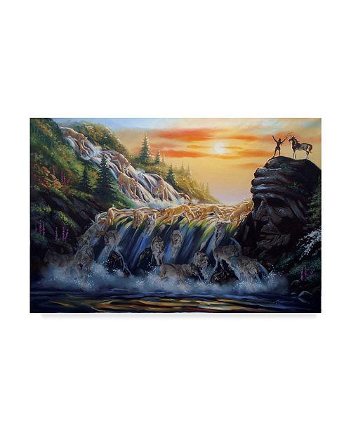"Trademark Global D. Rusty Rust 'The Waterfall' Canvas Art - 24"" x 16"" x 2"""