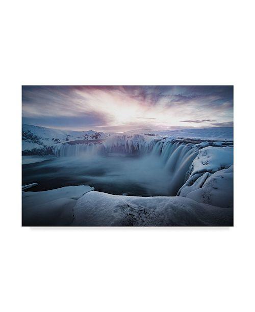 "Trademark Global Colin Bradnam 'Morning Godafoss' Canvas Art - 32"" x 2"" x 22"""
