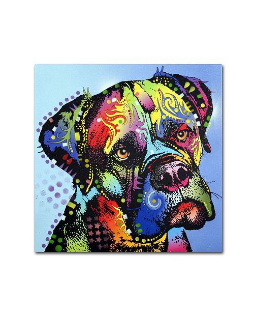 """Trademark Global Dean Russo 'Mastiff Warrior' Canvas Art - 24"""" x 24"""" x 2"""""""