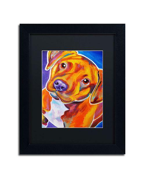 "Trademark Global DawgArt 'Harlem Crop' Matted Framed Art - 14"" x 11"" x 0.5"""