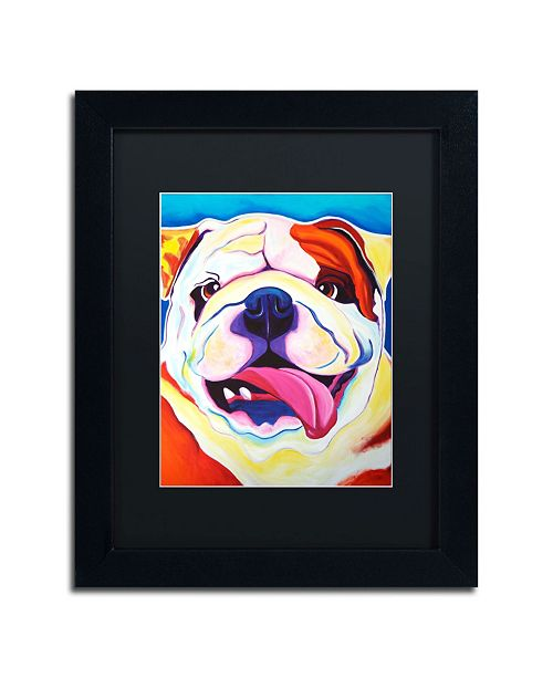 "Trademark Global DawgArt 'Bully Grin' Matted Framed Art - 14"" x 11"" x 0.5"""