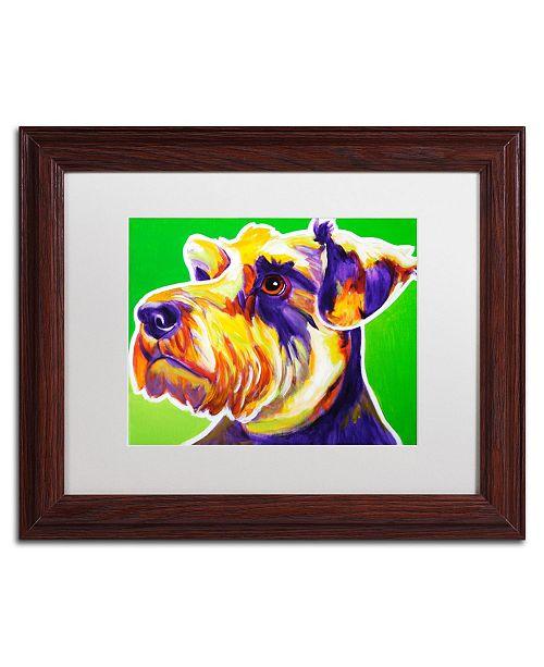 "Trademark Global DawgArt 'Elroy' Matted Framed Art - 11"" x 14"" x 0.5"""