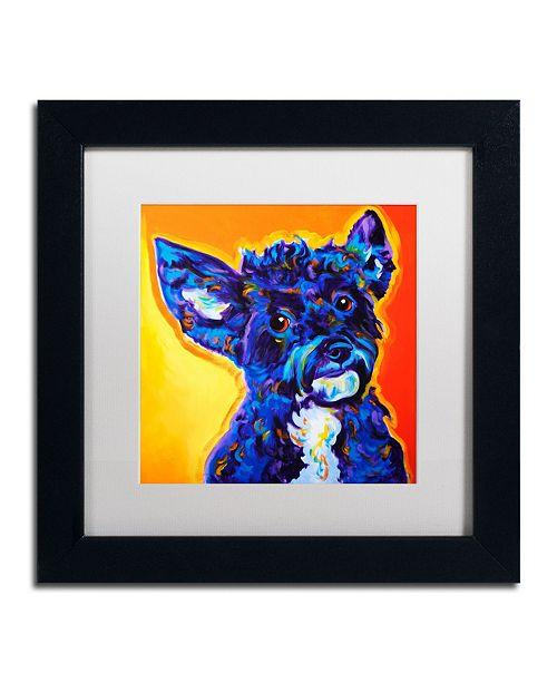 "Trademark Global DawgArt 'Pebbles' Matted Framed Art - 11"" x 11"" x 0.5"""