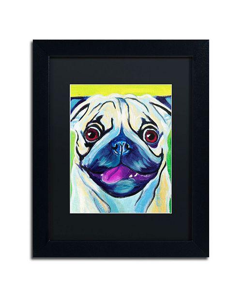 """Trademark Global DawgArt 'Pugilicious' Matted Framed Art - 14"""" x 11"""" x 0.5"""""""