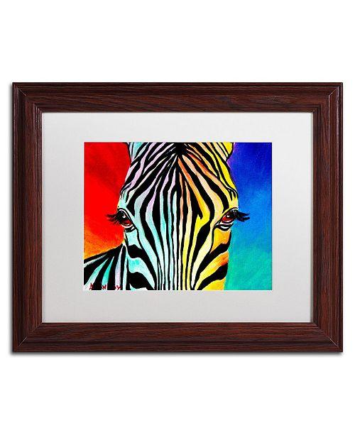 "Trademark Global DawgArt 'Zebra' Matted Framed Art - 11"" x 14"" x 0.5"""