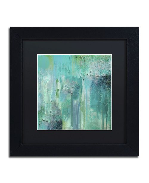 "Trademark Global Color Bakery 'Aqua Circumstance II' Matted Framed Art - 11"" x 11"" x 0.5"""