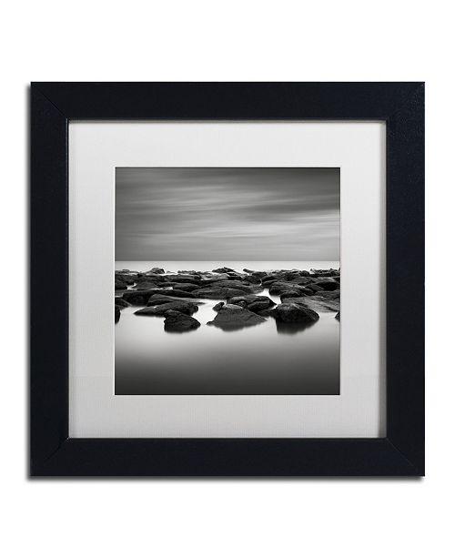 "Trademark Global Dave MacVicar 'High Tide' Matted Framed Art - 11"" x 11"" x 0.5"""