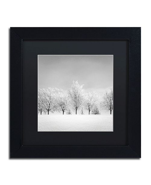 "Trademark Global Dave MacVicar 'Ice Storm' Matted Framed Art - 11"" x 11"" x 0.5"""