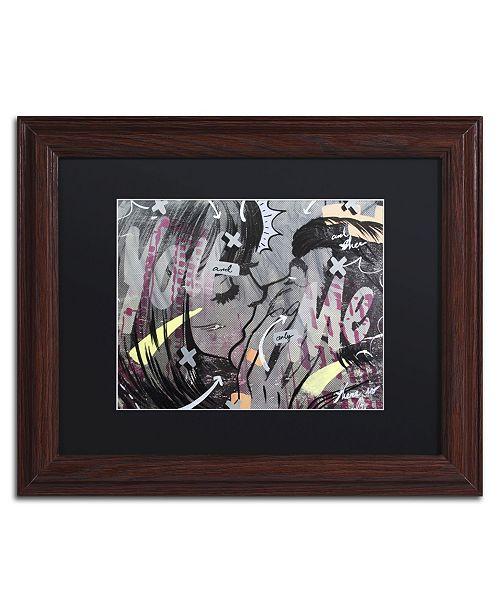 "Trademark Global Dan Monteavaro 'And Only' Matted Framed Art - 14"" x 11"" x 0.5"""