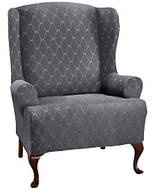 P/Kaufmann Home Stretch Sensations Stretch Ogee Slipcover for a Wing chair.