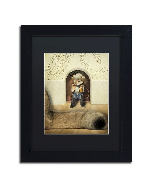 "Trademark Global J Hovenstine Studios 'New Mouse In Town' Matted Framed Art - 11"" x 14"" x 0.5"""