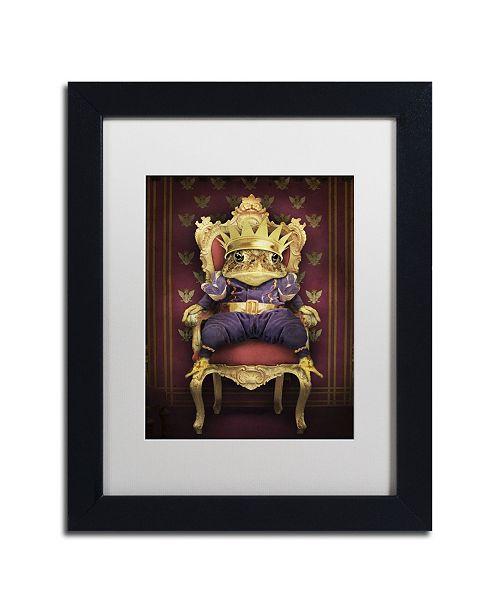 """Trademark Global J Hovenstine Studios 'The Frog Prince' Matted Framed Art - 11"""" x 14"""" x 0.5"""""""