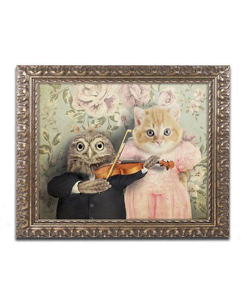 "Trademark Global J Hovenstine Studios 'The Owl And The Pussycat' Ornate Framed Art - 20"" x 16"" x 0.5"""