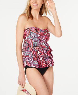 Prado Beach Tiered Bandini Tankini Top, Created for Macy's