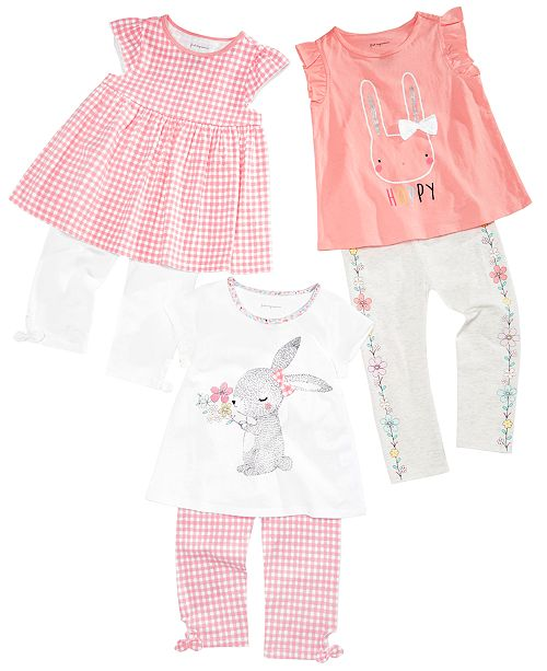 First Impressions Baby Girls Easter Bunny Mix & Match Separates, Created for Macy's