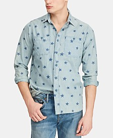 Polo Ralph Lauren Men's Classic-Fit Star  Americana Workshirt