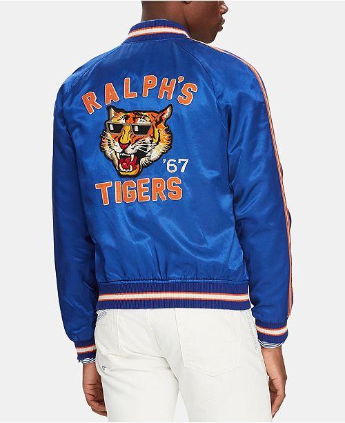 b4a283b872 Polo Ralph Lauren Men's Satin Souvenir Baseball Jacket & Reviews ...